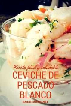 Ceviche de pescado blanco - Receta facil y saludable #libredegluten