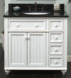 Small Bathroom Vanity Cabinets | Vanities, Cottage Style Bathroom Vanities, White Bathroom Vanities ...