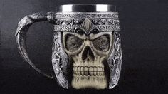 ⚔️ 3D Viking Warrior Skull Tankard/Mug (Stainless Steel) 🛡️    Get yours! Share with friends.