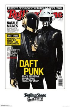 daft punk rolling stones magazine cover poster