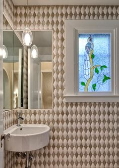 Capitol Hill Estate - eclectic - Powder Room - Seattle - Beverly Bradshaw Interiors