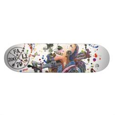Tank Girl skateboard design by Julie Fazooli. Shop at www.fazooli.ca