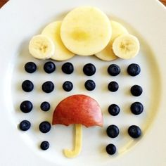 blueberry rainy day food art
