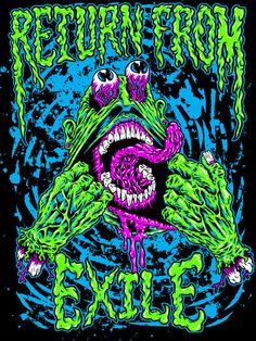 Face Ripper by cryface on DeviantArt Arte Horror, Horror Art, Tattoo Grafik, Arte Zombie, Psychadelic Art, Acid Art, Trippy Wallpaper, Arte Obscura, Lowbrow Art