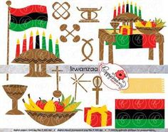 Kwanzaa Clipart Set by Poppydreamz