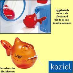 100x Koziol KAI P. tandenflos dispender relatiegeschenken als kunst in uw badkamer