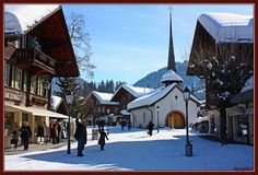 Gstaad, Switzerland - many happy holidays here