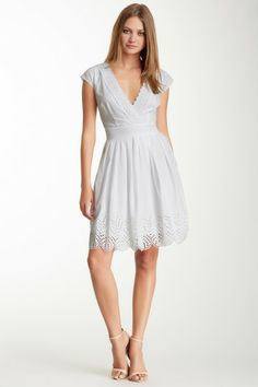 Catherine Malandrino A-Line V-Neck Dress on HauteLook