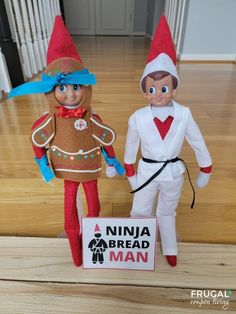 Gingerbread men are everything Christmas but have you heard of the Ninjabead man? Bring joy through Christmas pun and get to know the fighting wonder and enjoy this Ninjabread Man Elf on the Shelf idea with free printable. New Elf on the Shelf ideas daily plus free Elf on the Shelf printables. #FrugalCouponLiving #ElfontheShelf #ElfontheShelfIdeas #ElfIdeas #funnyelfideas #funnyelfontheshelf #elfprintables #freeelfprintables #printables #freeprintables #ElfonaShelf #ScoutElfIdeas