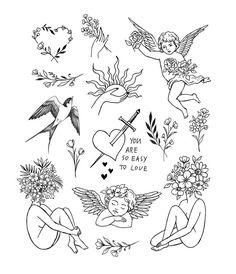 Little Tattoos, Mini Tattoos, Body Art Tattoos, Sleeve Tattoos, Tatoos, Dainty Tattoos, Pretty Tattoos, Small Tattoos, Cupid Tattoo