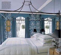 Bedroom Bliss. Interior Designer: Miles Redd.