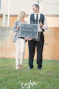 Bible verse incorporated into engagement photos. Crazy Love Studios.