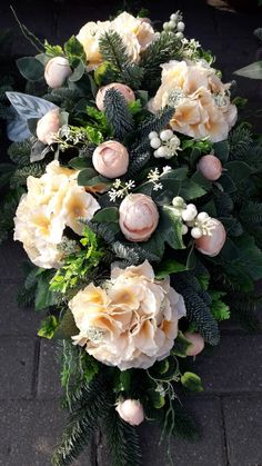 Silk Flowers, Paper Flowers, Funeral Flowers, Flower Arrangements, Floral Wreath, Wreaths, Home Decor, Floral Arrangements, Flowers
