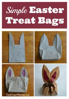 I've never seen a lunch bag look so cute! This is a perfect, simple Easter craft.