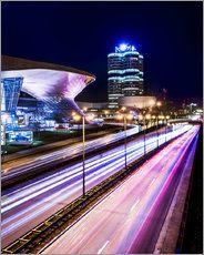 München - BMW Stadt in der Nacht