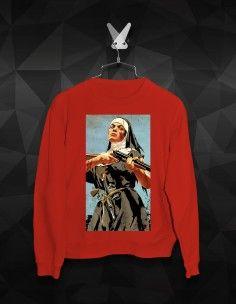 WOMEN'S PRINTING SWEATSHIRTS M Color, Streetwear Brands, Printed Sweatshirts, Street Wear, Printing, Graphic Sweatshirt, Sweaters, Cotton, Black