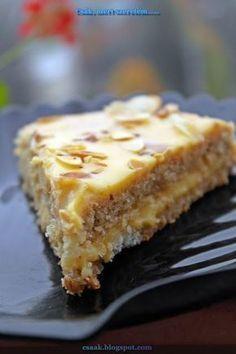 svéd mandulatorta, az IKEA-s csoda süti (Swedish almond vanilla cake) Gluten Free Desserts, Cookie Desserts, Sweets Recipes, Cake Recipes, Hungarian Desserts, Traditional Cakes, Salty Snacks, Famous Recipe, Almond Cakes