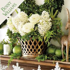 Bunny has an oval lattice-style cachepot like this one resting on the mantel in her New York apartment.