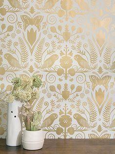 Barn Owls and Hollyhocks. wallpaper by Carson Ellis