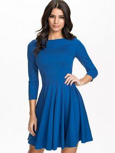 3/4 Sleeve Skater Dress - Closet - Blau - Partykleider - Kleidung - Damen - Nelly.de Mode Online