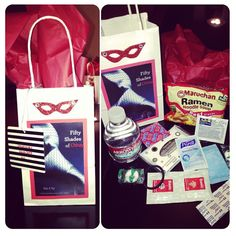 """Made an """"emergency hangover kit"""" for a bachelorette party for favor bags. 50 shades of grey theme 30th Party, 30th Birthday Parties, 50 Shades Party, Pleasure Party, Bachelorette Themes, Polish Wedding, Lingerie Party, Movie Party, Bridal Shower Party"""