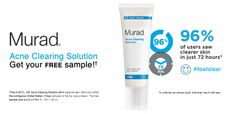 free sample of Murad Acne Clearing Solution