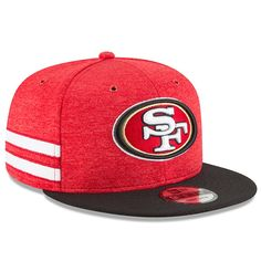 8403cff7a Men s San Francisco 49ers New Era Scarlet Black 2018 NFL Sideline Home  Official 9FIFTY Snapback