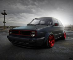 golf mk2 i like red with black by ~hugosilva on deviantART