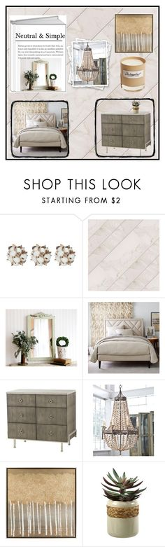 """Neutral Bedroom"" by doragutierrez ❤ liked on Polyvore featuring interior, interiors, interior design, home, home decor, interior decorating, West Elm, Surya, Olfactive Studio and bedroom"