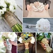 burlap and lace wedding bouquet - Google zoeken