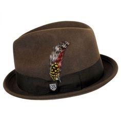 d1f2d390 Brixton Hats Gain Wool Felt Fedora Hat Stingy Brim & Trilby Brixton Hats,  Fedora Hat
