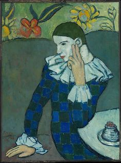 Seated Harlequin, Picasso, 1901, Metropolitan Museum of Art collection