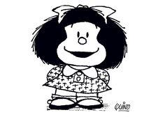 Mafalda Fargelegging for barn. Tegninger for utskrift og fargelegging nº 2