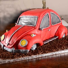 The Cake Artists - Red VW Beetle Cake
