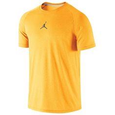 Jordan Dominate T-Shirt - Kumquat/Black Tank Top Shirt, Polo Shirt, Tank Tops, Jordans, Yellow, Shirts, Men, Black, Fashion