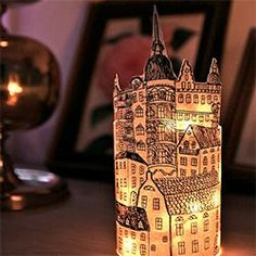 Use inexpensive material such as paper and and a glass jar to make this beautiful lantern. (in Swedish and English)