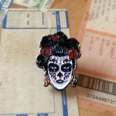 Day of the Dead - Soft Enamel Lapel Pin by ShopMartin on Etsy