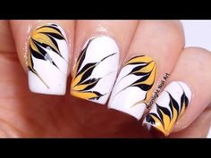 Drag Dry Marble Floral Nail Art Design Tutorial - YouTube