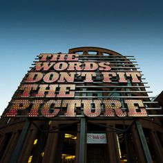 Ron Terada, The Words Don't Fit the Picture (installed outside the Vancouver Public Library), photographed by Kenny Louie . English Legends, Silence In The Library, All About Canada, Library Design, Library Ideas, Places Of Interest, Public Art, British Columbia, East Coast