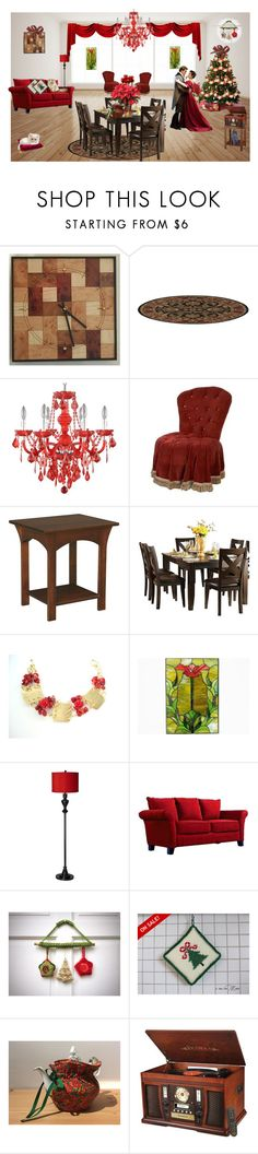 """""""The Christmas Waltz"""" by cozeequilts ❤ liked on Polyvore featuring Jayson Home, DutchCrafters, Homelegance, As Is, Possini Euro Design, Crosley and Innovative Technology"""