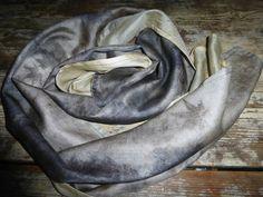 Ahimsa Peace Silk Reversible Wrap/Scarf Natural Dye by SheGathers