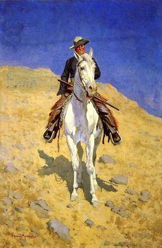 Frederic Remington - Self-Portrait on a Horse (1890)