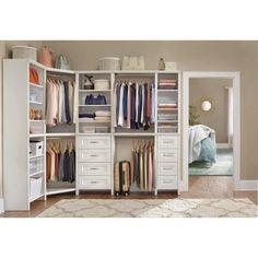 Corner Wardrobe Closet, Diy Wardrobe, Closet Rod, Closet Wall, Wardrobe Design, Master Closet Design, Master Bedroom Closet, Master Closet Layout, Bedroom Corner