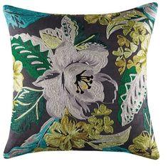 Cushion cover kas size 45cm x 45cm square lucaya green design bobin boutique A $29