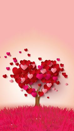 My heart tree is full of love for you , Beautiful Lady. I Love Heart, Happy Heart, Diy And Crafts, Paper Crafts, Heart Tree, My Funny Valentine, Happy Valentines Day, Valentine Music, Valentine Tree