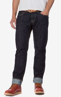 Edwin ED-55 Relaxed Red Listed Selvage Denim Blue Rinsed 14oz