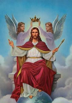 Christ the King - Glory to God in the Highest! O Jesus, King most wonderful! Thou Conqueror renowned! Thou Sweetness most ineffable! in whom all joys are found! Jesus Our Savior, Jesus Art, King Jesus, Jesus Is Lord, Catholic Art, Religious Art, Roman Catholic, Image Jesus, Pictures Of Jesus Christ