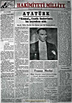 hakimiyeti milliye gazetesi 25. 2.teşrin 1934
