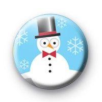 Cute Snowman Badge  Button Badge £0.85