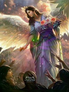 Angel Images, Angel Pictures, Beautiful Fairies, Beautiful Gif, Foto Fantasy, Fantasy Art, Dark Fantasy, Girl Drawing Sketches, Drawings